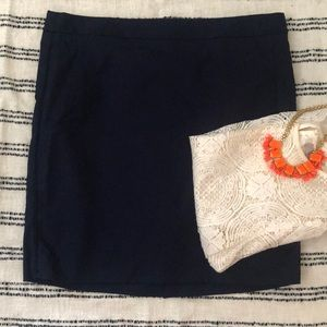 The Limited Navy Pencil skirt